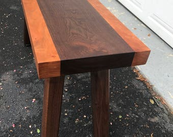 Walnut and Cherry Bench / Coffee Table ( Collo Bench)