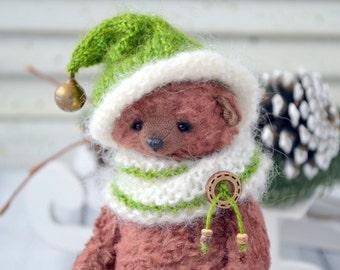 """Artist teddy Bear """"Yuliush"""", Stuffed Animal Bear, OOAK teddy bear, vintage toy, collection teddy bear, handmade teddy bear, brown bear"""