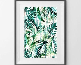 A4 Paradise Palms art print