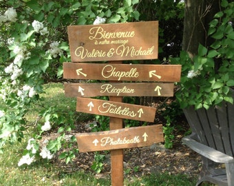 wedding  rustic arrow directions introductory price