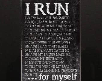 I Run....for Myself Matted Photo
