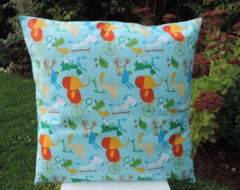 Kids Cushion, Childrens Cushion, Children's Cushion Cover.  Boys. Handmade