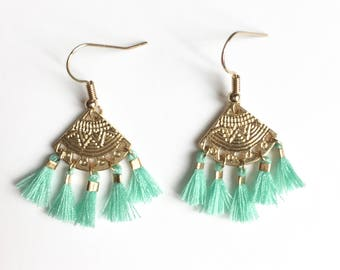 ALMA EARRINGS - turquoise