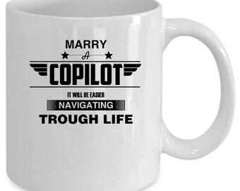 Copilot white coffee mug. Funny Copilot gift