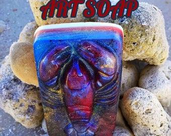 LOBSTER SOAP lobster gift maine lobster,new england ,nautical gifts,lobster art,lobster decor,ocean sea seafood lobster lover nautical coast