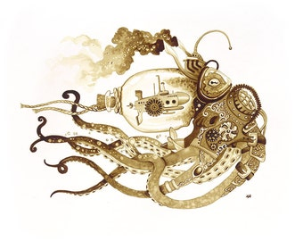 Steampunk Nautilus Octopus