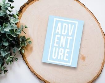 Adventure Decal - Adventure Block Vinyl Sticker, Vinyl Decal - Car Decal, Laptop Sticker, Window or Bumper Sticker