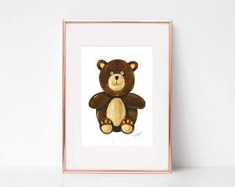 Nursery Bear Prints, Nursery watercolor, Nursery prints, Woodland Nursery, Nursery Wall Art, Nursery Art Print, Nursery Decor Animals
