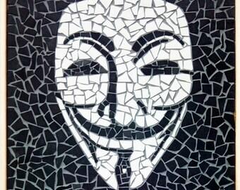 anonyme maske mosaik - Fantastisch Mosaik Flie
