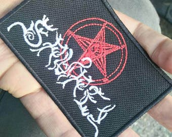Samael vintage Incredible patch embroidered, rare, for true lovers of black industrial  metal !! 90s