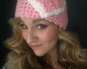 Crochet Valentine's Day heart ear warmer