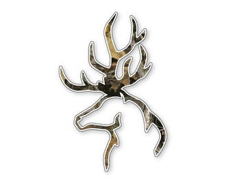 Camo Deer Vinyl Sticker Decal