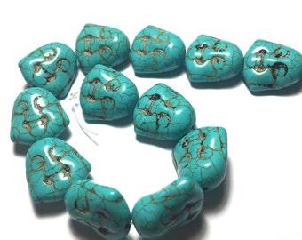 Turquoise Howlite Buddah Heads. Buddah. Buddah Face. Beads. Buddah Beads. Turquoise. Howlite.