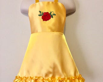 Belle Dress Up Apron - Reversible Beauty and the Beast