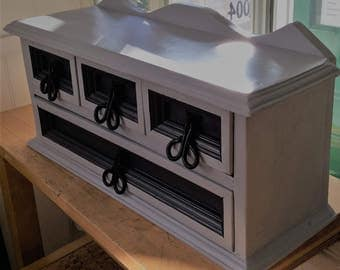 S o l d  *  *  *  *  Table Top Wooden SET of DRAWERS - upcycled