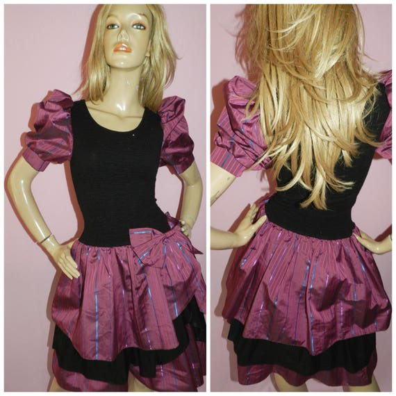 Vintage 80s Prom Dress with Bow