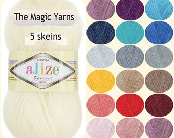 Alize Angora Special New-angora yarn,mohair,wool,variety of colors,lace weight, baby weigth,super fineknitting yarn,crochet yarn,shawl warp