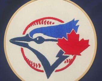 Embroidered Blue Jays Logo