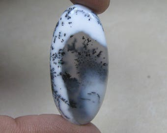 Natural Dendrite Opal cabochon Oval shape loose semi precious gemstone cabochon size 17 x 35 mm approx code 8934