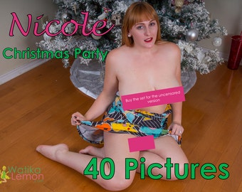 Nicole - Christmas Party - (Mature, Contains Nudity) - 40 Pictures