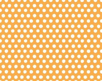 1/2 yard Monaluna Juicy Spot On Orange Organic Cotton Fabric - LAST ONE