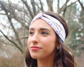 Popsicle Headband/Popsicle Turban Headband/Watercolor Headband