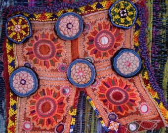 Vintage Rajasthani embroidery patches x5