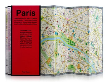 Red Map Paris City Guide