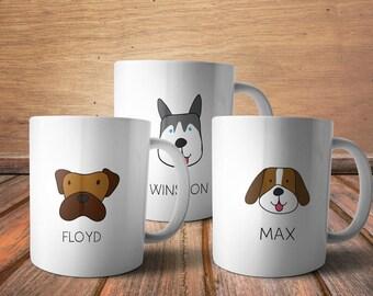 Personalized pet mug - Personalized Dog Mug, custom pet portrait