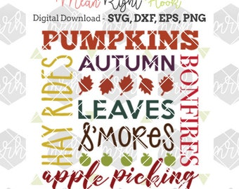 Fall Subway Art SVG, Fall Svg, Autumn svg, Fall Decor svg, Thanksgiving svg, INSTANT DOWNLOAD for cutting machines - svg, png, dxf, eps