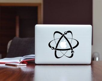 Cool Atom Decal Design for Macbook Laptops, Usable on Any Smooth Surface, Removable, High Quality Matted Vinyl Decal