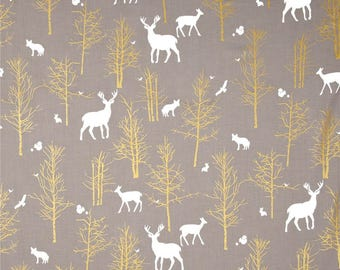 golden forest in stone crib sheet or changjnh pad cover, deer, baby gile, crib bedding
