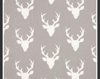 Antlers in stone crib sheet or changjnh pad cover, deer, baby gile, crib bedding