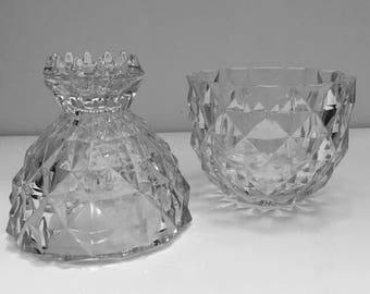 Vintage Glass Pineapple Serving Goblet/Carafe | Crystal Clear Tumbler | Top Can Be Used to Muddle Pineapple and Limes