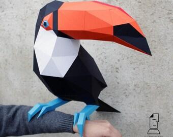 Papercraft toucan - digital template