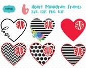 Valentine svg, valentine  monogram svg, heart svg, heart  monogram svg,  valentine cut file, valentine monogram  Id#svgvmon6