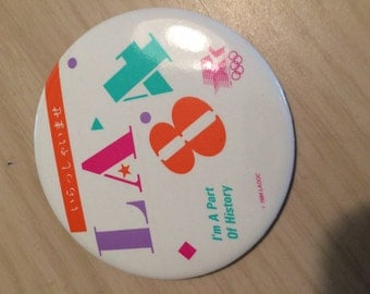 1984 Los Angeles Olympics Welcome, Were a part of history, Button