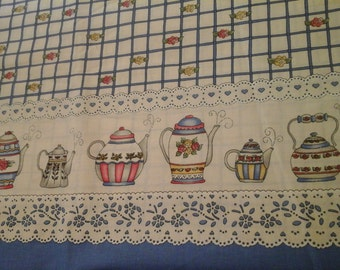 2 Yards Tea Pot Fabric by Marcus Brothers Cotton