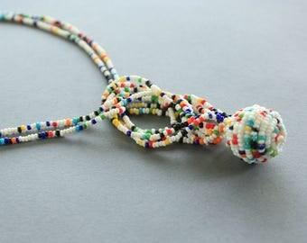 Multicolored Beaded Jacla Necklace