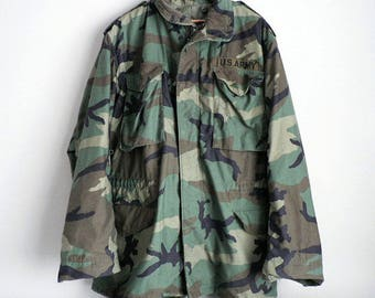 Camo Military All Weather Jacket Medium Long