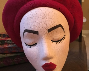 REVERSIBLE Red and Black Beret!