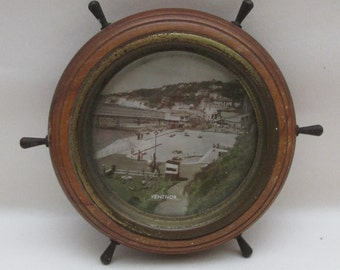Vintage 1950s Souvenir of Ventnor, Isle of Wight Ships-Wheel Frame