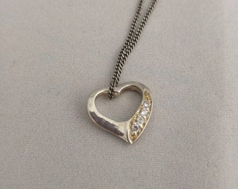 925 silver heart pendant and chain
