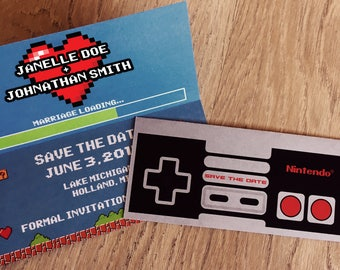 Nintendo Controller Save the Date - Personalized Printable Digital File