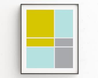 Downloadable Prints, Yellow Gray Decor, Contemporary Wall Art, Geometric Design, Geometric Poster, Art Modern, Decor Wall, Art Decor