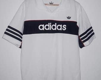 Vintage Adidas Trefoil Big Logo Hip Hop Clothing T-Shirt Large