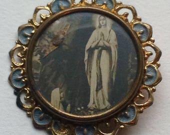 Antique Virgin Mary Pin