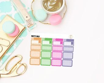 Pretty Wild Glitter Sampler, planner stickers