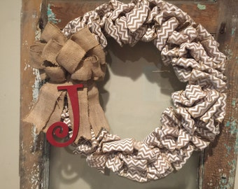 Burlap wreath (assorted colors)