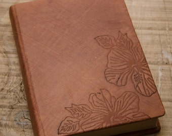 Brown Leather Hard Cover Journal, Handbound Journal, Leather Noteook, Diary, Travel Journal